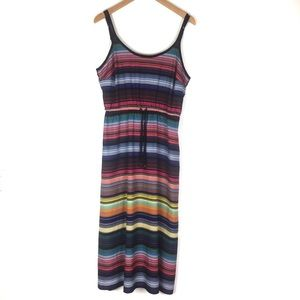 Athleta Colorful Striped Maxi Stress with Pockets
